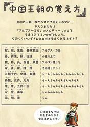 展示されている「中国王朝の覚え方のパネル」東洋文庫ミュージアム提供