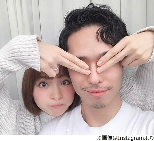 """[画像] 篠田麻里子、夫との""""幸せ2ショット""""披露"""