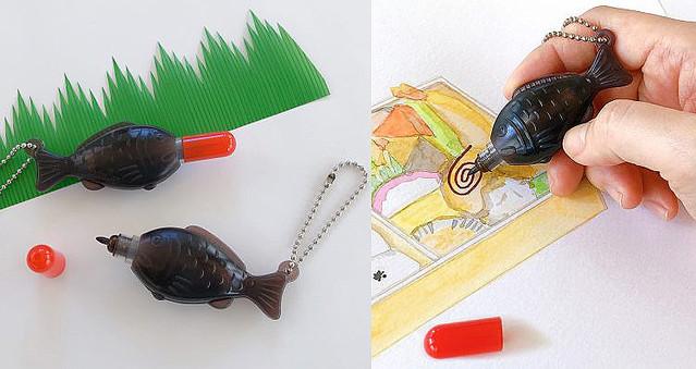 [画像] お弁当についてくるあの「醤油鯛」がコンパクトで可愛いペンになっちゃいました!