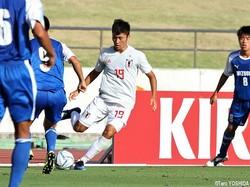 U-18日本代表CB石尾崚雅(C大阪U-18)は2試合連続無失点に貢献