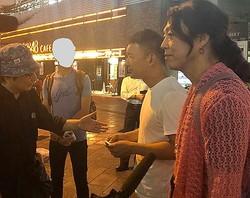 7月4日、秋葉原駅前。右から安冨歩氏、山本太郎氏、筆者