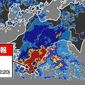 高知県で1時間に約120ミリの猛烈な雨 21日ごろまで警戒が必要