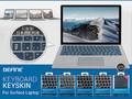 ロア・インターナショナル、シックな5色展開のSurface用キーボードカバー「キースキン」を発売