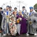北九州市の成人式には花魁姿も 衣装トレンドは「きらきら系」