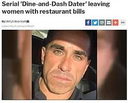 """この男の食い逃げの犠牲となったのは""""出会い系""""の女性たち(画像は『WOWK 2018年5月9日付「Serial 'Dine-and-Dash Dater' leaving women with restaurant bills」』のスクリーンショット)"""