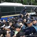 脱北の親子餓死か ソウルでデモ