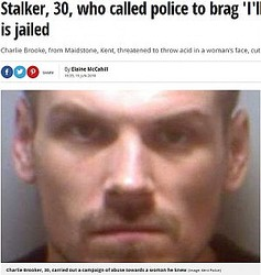 警察へ自ら電話し、逮捕されたストーカー男(画像は『Mirror 2018年6月19日付「Stalker, 30, who called police to brag 'I'll never be caught' is jailed」(Image: Kent Police)』のスクリーンショット)