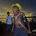 ブラジル・アマゾンの先住民カヤポの長老ラオーニ・メトゥティレ氏。同国マトグロソ州ピアラスにて(2020年1月15日撮影)。(c)CARL DE SOUZA / AFP
