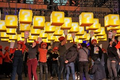 ニューヨーカー1,000人が「ハテナブロック」に大興奮! 世界の中心NYで「SUPER NINTENDO WORLD CHALLENGE」開催