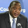 米首都ワシントンにあるシンクタンク「大西洋評議会」で講演するケニアのウフル・ケニヤッタ大統領(2020年2月5日撮影)。(c) Eric BARADAT / AFP
