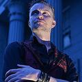 マサチューセッツ州のセーレムでポーズをとるThe Satanic Templeの代表者ルシアン・グリーヴス氏。(Photo by Josh Reynolds for The Washington Post/Getty Images)
