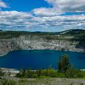 カナダのケベック州アスベストスにあるジェフェリー鉱山跡(2020年7月21日撮影)。(c)Eric THOMAS / AFP