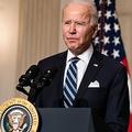 2021年1月27日、ワシントンD.C.のホワイトハウスのステート・ダイニングルームで行われたイベントで、ジョー・バイデン米国大統領が気候変動への政権の対応について発言。
