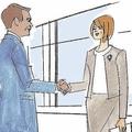 ビジネスシーンで挨拶の握手
