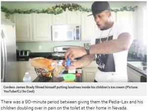 [画像] 【海外発!Breaking News】ヒットを狙うYouTuberの父親、我が子に下剤入りアイスを食べさせた動画を投稿(米)