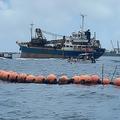 ジュゴンの鳴き声が検出された大浦湾「K4地点」(中原貴久子氏提供、2020年6月12日)