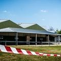 飼育しているミンクに新型コロナウイルス感染が確認され、封鎖されたオランダ南部ベークエンドンクのミンク養殖場(2020年4月26日撮影、資料写真)。(c)Rob ENGELAAR / ANP / AFP