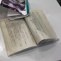表紙はヨレヨレ、本はビショビショの悲惨な姿…こんな本が復活できるの?/ディーズ(@Deeeeese7)さん提供