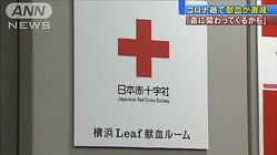 「命に関わってくるかも」新型コロナで献血者が激減