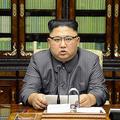 9月21日、平壌でトランプ米大統領の国連演説に対する声明を発表する北朝鮮の金正恩朝鮮労働党委員長(写真=時事通信フォト)