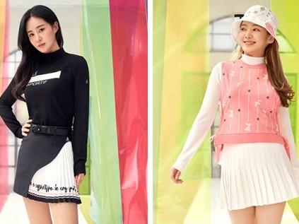 """[画像] 少女時代ユリとヒョヨンが""""元祖・美脚""""を証明!ゴルフウェアの広告モデルとして共演【PHOTO】"""