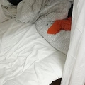 部屋のベッド。橋本さん(仮名)もこのシェアハウスに住んでいる