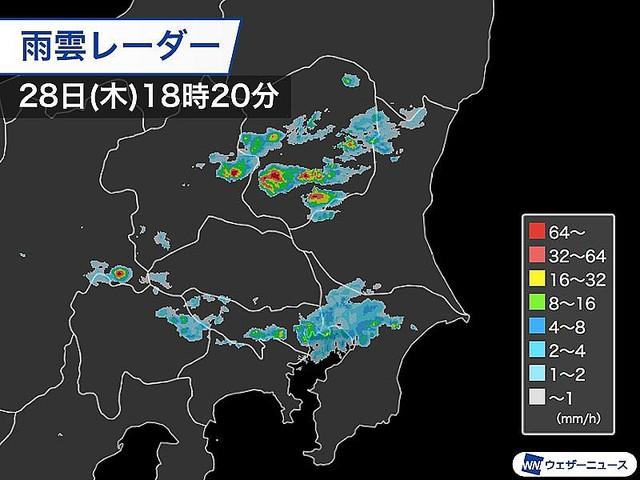 雨雲 レーダー 佐野 市