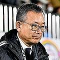 理事会後の記者会見に出席した村井チェアマン。無観客試合について否定的な考えを表明した。写真:金子拓弥(サッカーダイジェスト写真部)
