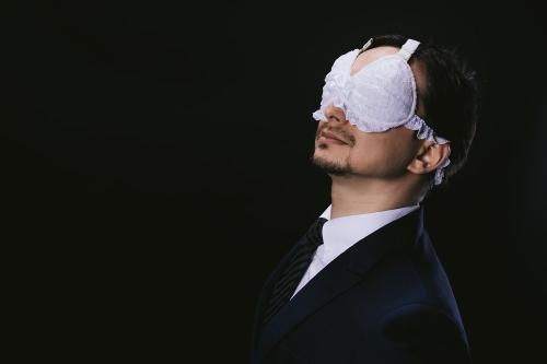 まさに変態紳士 至福の世界に誘う「ブラジャーアイマスク」が爆誕