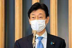 新型コロナウイルスを担当する西村康稔経済再生相