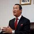 北朝鮮の金星(キム・ソン)国連大使。金氏は7日(米東部時間)、記者団に対し、英国などの安保理招集の要求は「危険な試みだ」とし、「決して座視しない」と述べた=(聯合ニュース)