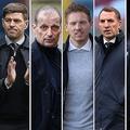 トッテナムの新監督候補として名前が挙がった(左から)ジェラード、アッレーグリ、ナーゲルスマン、ロジャース、ベニテス。(C)Getty Images