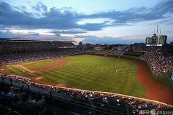 米大リーグ(MLB)、シカゴ・カブスの本拠地リグレー・フィールド(2014年6月24日撮影)。(c)Jonathan Daniel/Getty Images/AFP