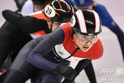 ショートトラックスピードスケートの世界女王ララ・ファン・ライフェン選手(2018年2月20日撮影)。(c)Mladen ANTONOV / AFP
