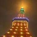 台湾パイナップルをイメージしたカラーにライトアップされた東京タワー