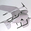 ドイツ製の固定翼ドローン。自治体や警察などへ提案する