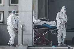 武漢市の金銀潭医院(STR/AFP via Getty Images)