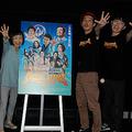 左からどんぐり、上田慎一郎監督、大沢数人(撮影・松浦隆司)