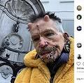 全身にピアスを481個つけている男性(画像は『Rolf Buchholz 2019年11月10日付Instagram「Brussels, Belgium」』のスクリーンショット)