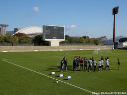 広島との練習試合に臨むU-22日本代表
