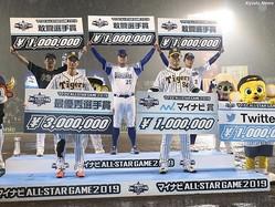 第2戦では阪神のルーキー・近本光司がMVPに輝いた
