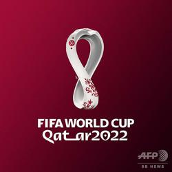 2022年サッカーW杯カタール大会の公式エンブレム。FIFA提供(2019年9月3日提供)。(c)FIFA /AFP