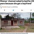 20年にわたり女性が監禁されていた家(画像は『Metro 2018年6月14日付「Woman 'chained naked to bed for 20 years because she got a boyfriend'」(Picture: CEN)』のスクリーンショット)