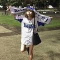 ブログで野球観戦に出かけたことを報告していた(画像は川崎純情小町☆オフィシャルブログのスクリーンショット)