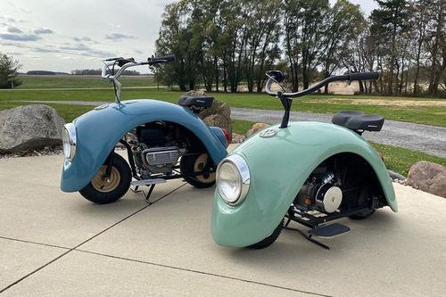 「フォルクスワーゲン・ビートルのパーツでカスタムバイクを作ってみた」
