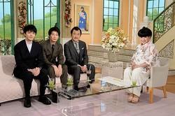 (左から)林遣都、田中圭、吉田鋼太郎、黒柳徹子(画像提供:テレビ朝日)