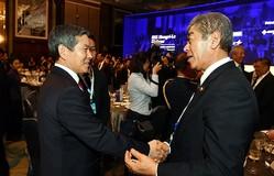 日韓防衛相の間ではどんな会話が…?(写真は韓国国防省のフェイスブックから)