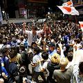 セネガル戦の後、渋谷に集まった人たち Photo:REUTERS/AFLO