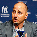 NEW YORK, NY - AUGUST 07:  New York Yankees general manager Brian Cashman speaks during a news conference on August 7, 2016 at Yankee Stadium in the Bronx borough of New York City.  (Photo by Jim McIsaac/Getty Images)