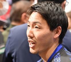 Jリーグのキックオフカンファレンスで取材に応じてくれたG大阪の昌子。写真:徳原隆元